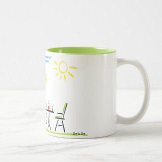 summertime in your garden Two-Tone coffee mug