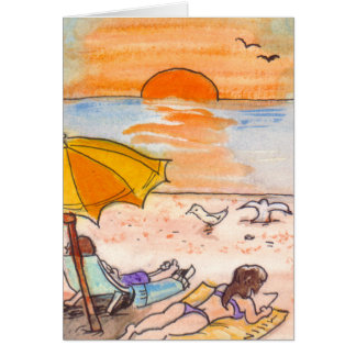 summertime lazy card