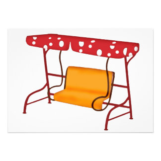 Summertime Patio Glider Seating Personalized Invitation