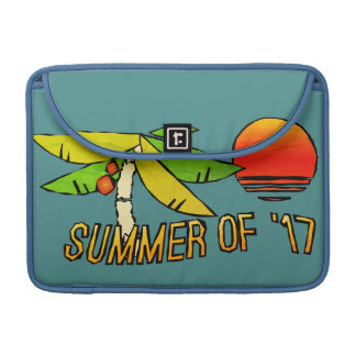 SummerTime - Perfect Beach Sunset - Tiled on Back Sleeve For MacBook Pro