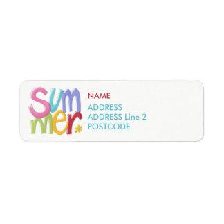 Summertime Return Address Labels