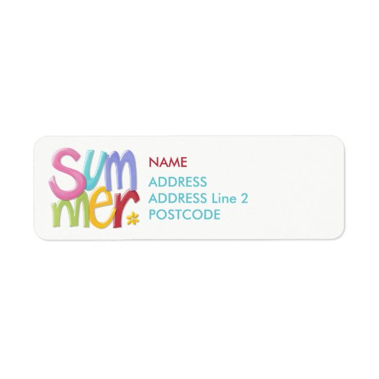 Summertime Return Address Labels