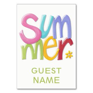Summertime Table Card