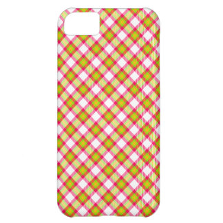 """Summertime"" tartan print Cover For iPhone 5C"