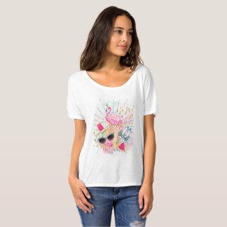 Summertime theme t-shirt for women