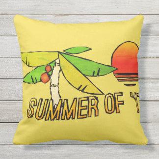 SummerTime Vibes - Perfect Beach Sunset Outdoor Pillow