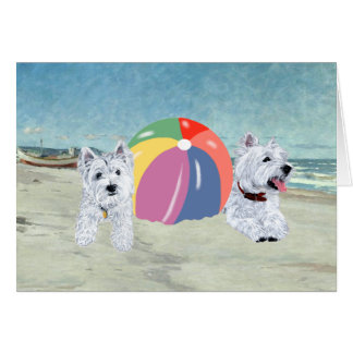 Summertime Westies Blue Water Card