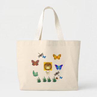 Summertime Wings Large Tote Bag