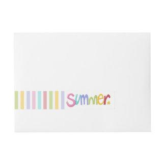 Summertime Wrap Around Address Labels