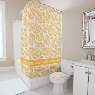 Summery Golden Yellow Leafy Branchs with White