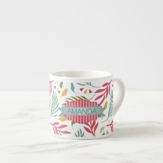 Summery Scattered Leaf Pattern ID387 Espresso Cup