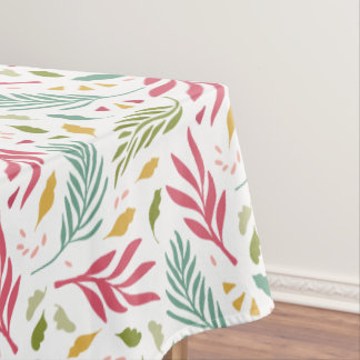 Summery Scattered Leaf Pattern ID387 Tablecloth