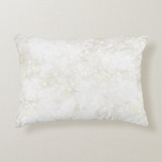Summery White Fairy Dust Accent Pillow