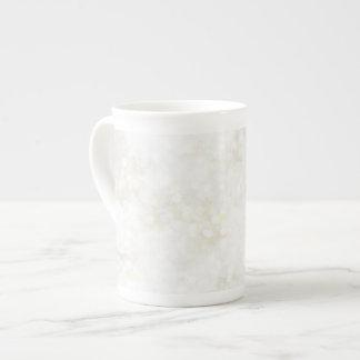 Summery White Fairy Dust Bone China Mug