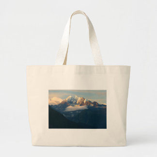 summit-in-morning-light large tote bag