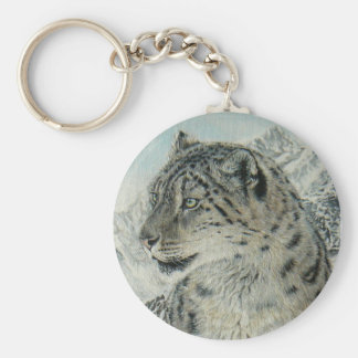 Summit King Snow Leopard keychain