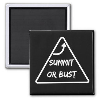 """Summit or Bust"" Magnet"