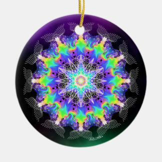 Summoning Life Force/Colors of Christmas Ceramic Ornament