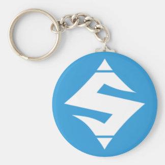 """SUMO Blue Button Keychain 2.25"""""""