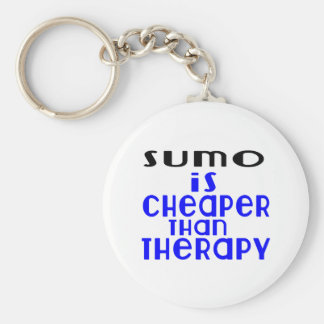 Sumo Is Cheaper  Than Therapy Basic Round Button Keychain