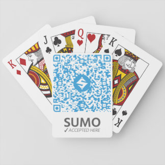 SUMO QR-Cards White Playing Cards