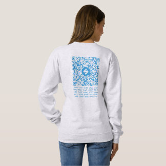 SUMO QR-Clothes, Back QR-Code/Text Sweatshirt