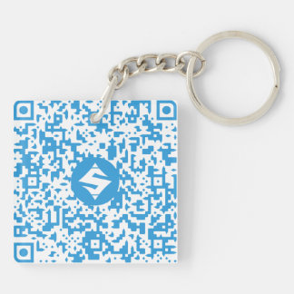 SUMO QR-Code/QR-Code Double-Sided Keychain 2''