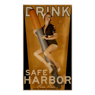 """""""Sumo Sized"""" Safe Harbor Beer Torpedo Poster"""