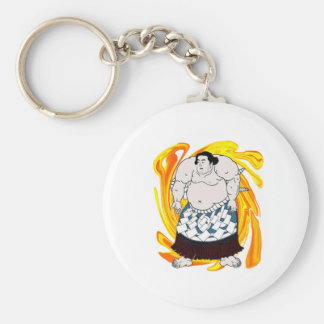 Sumo Sweeper Basic Round Button Keychain