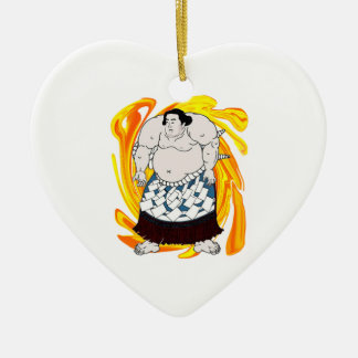 Sumo Sweeper Ceramic Heart Ornament