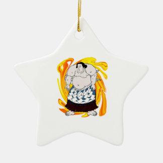 Sumo Sweeper Ceramic Star Ornament