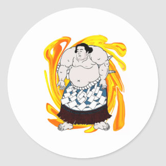 Sumo Sweeper Classic Round Sticker