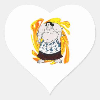 Sumo Sweeper Heart Sticker