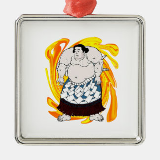 Sumo Sweeper Metal Ornament