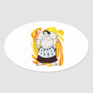 Sumo Sweeper Oval Sticker