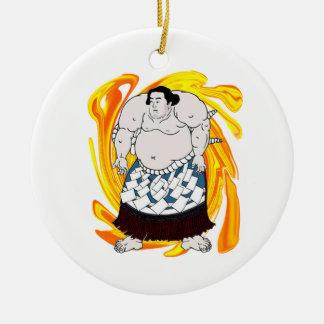 Sumo Sweeper Round Ceramic Ornament