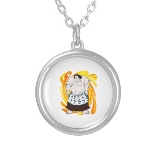 Sumo Sweeper Silver Plated Necklace