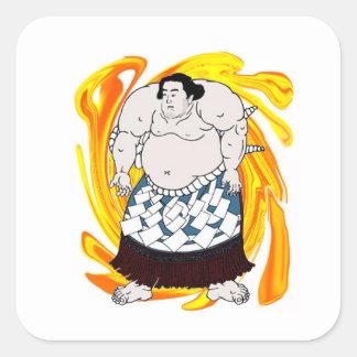 Sumo Sweeper Square Sticker