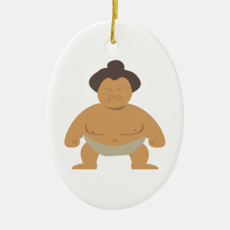 Sumo Wrestler Ceramic Ornament