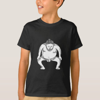 Sumo Wrestler Stomping Doodle T-Shirt