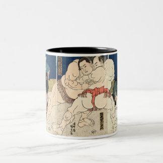 Sumo Wrestling 1860 Two-Tone Coffee Mug