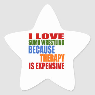 Sumo Wrestling Is My Therapy Star Sticker