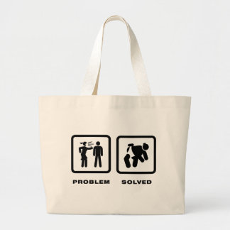 Sumo Wrestling Large Tote Bag