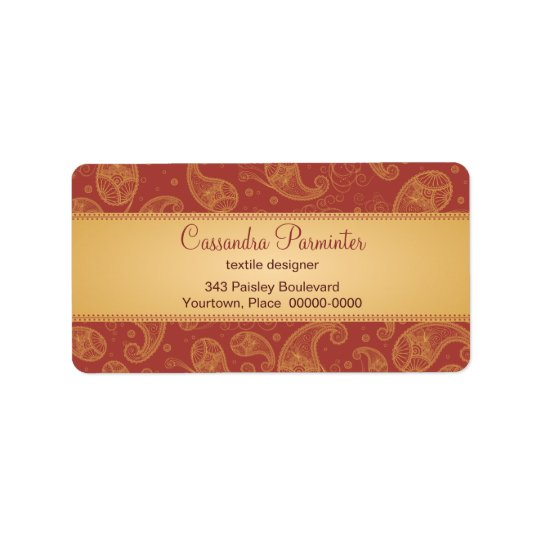 Sumptuous Paisley Address Labels
