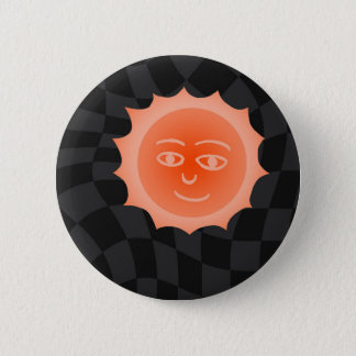 Sun 2 Inch Round Button