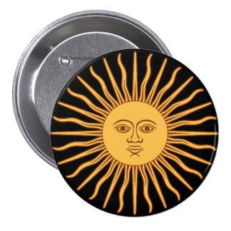 Sun 3 Inch Round Button