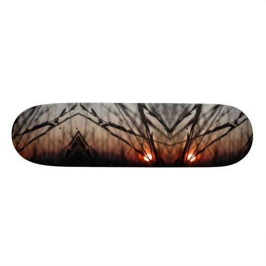 Sun abstract Fractal 20.6cm Skateboard