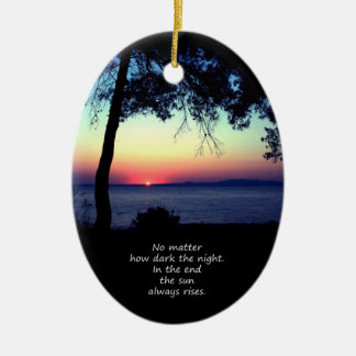 Sun Always Rises Ceramic Ornament