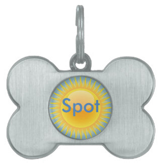 Sun and Beach Umbrella Pet Tag