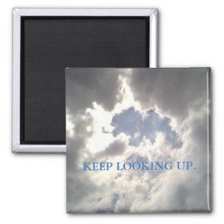 Sun And Cloud Magnet With Keep Looking Up